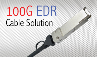 100G EDR Cable Solution